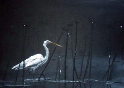 Éjszakai vadászat ( Pasztell, 20X20 cm ) / Night hunting (Pastel,  20x20 cm)