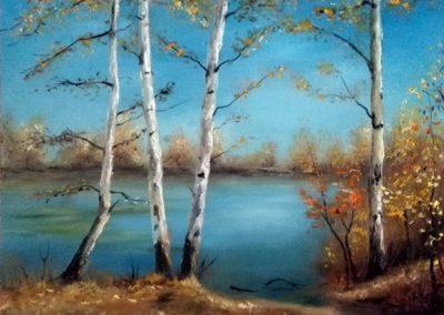 Őszi séta (Olaj, 40x50 cm ) /  Autumn walk (Oil, 40x50 cm)