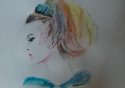 Agárdi Gabi - Amerika ( Akvarell A4 )