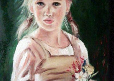 Anyák napján ( Olaj 30x40 cm ) / Mother's Day (Oil, 30x40 cm)