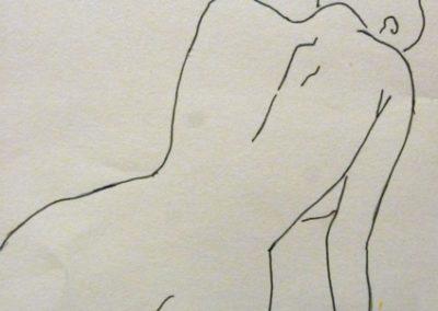 Egyedül ( Filc, A4 ) / Alone (Brush  pen A4)