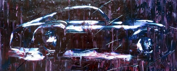Agárdi Gabi - Esőben ( Olajfestmény )
