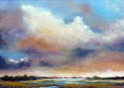 Fellegek (Olaj, 20x40 cm) / Clouds (Oil, 20x40 cm)