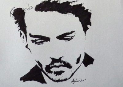 Johnny Depp ( Filc A4 ) / Johnny Depp  (Brush pen, A4)