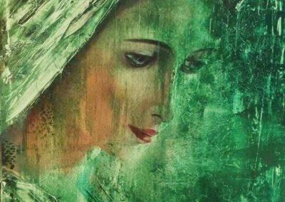 Madonna ( Olaj 60x60 cm ) / Madonna (Oil, 60x60 cm)