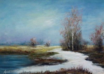 Magány (Olaj, 30x40 cm) / Loneliness (Oil, 30x40 cm)