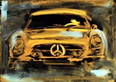 Agárdi Gabi - Mercedes 300SL 1958 ( Pasztell )