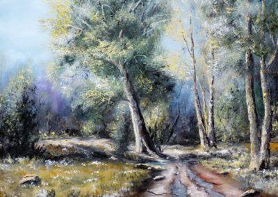 Mesél az erdő ( Olaj 40x50 cm ) / Storytelling forest (Oil, 40x50 cm )
