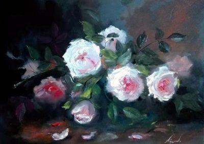 Agárdi Gabi - Illatos rózsák ( Olajfestmény 30x40 )