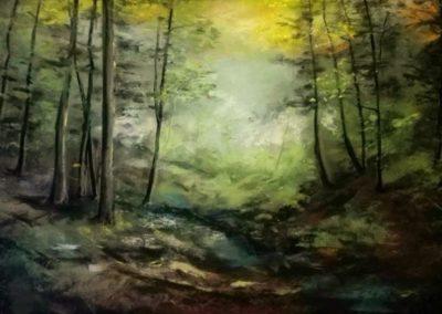 Agárdi Gabi - Erdőrészlet (Pasztellfestmény 30x40 cm)