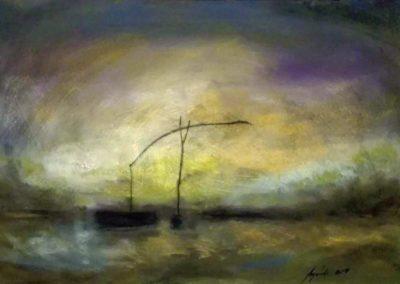 Agárdi Gabi - Magányosan (Pasztellfestmény 50x70 cm)