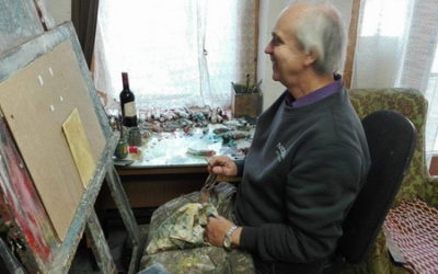 Gróf Zoltán festőművész műtermében, amikor csak időm engedi