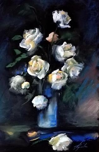Illatos rózsák (Pasztell, 40x25 cm)