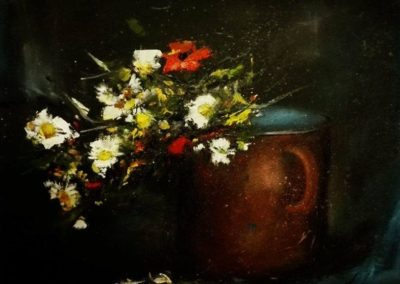 Hervadó mezei virágok (Olaj, 30x40 cm)