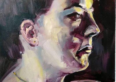 Agárdi Gabi portré MNG olaj